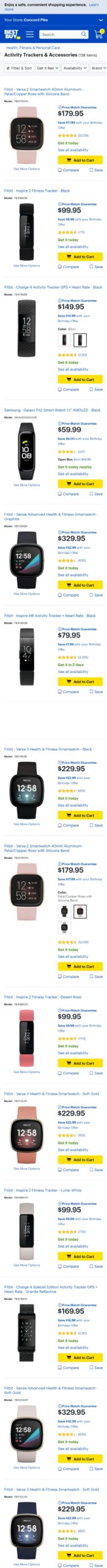 Best Buy Category Page Mobile>
